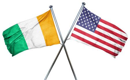 coast: Ivory coast flag combined with american flag