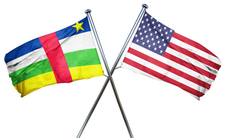 amity: Central african republic flag combined with american flag