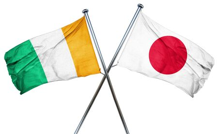 combined: Ivory coast flag combined with japan flag