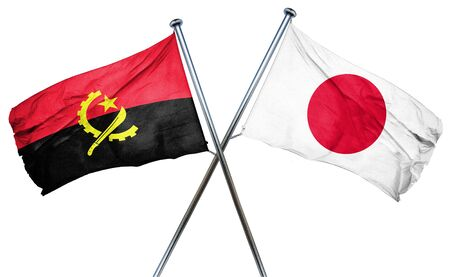 treaty: Angola flag combined with japan flag