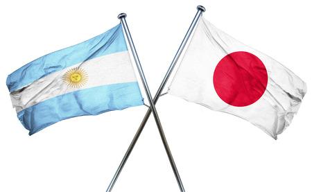 bandera argentina: Bandera de Argentina combinado con la bandera de Jap�n