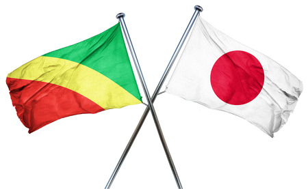 isolation backdrop: Congo flag combined with japan flag