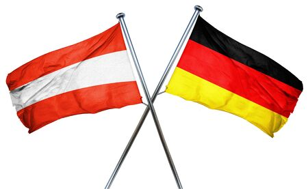 combined: Austria flag combined with germany flag