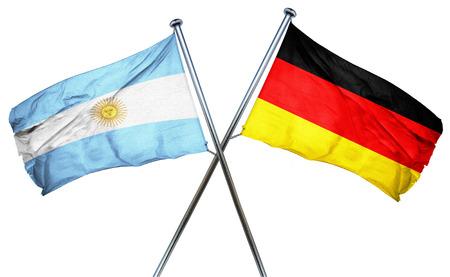 bandera argentina: Bandera de Argentina en combinaci�n con el indicador de Alemania Foto de archivo