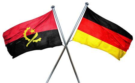 angola: Angola flag combined with germany flag