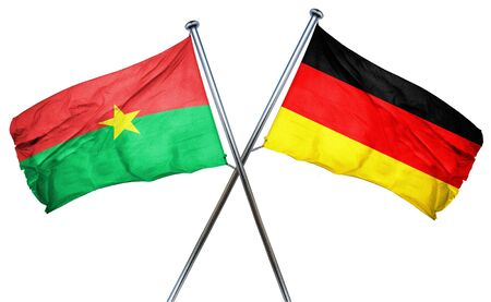 combined: Burkina Faso flag combined with germany flag