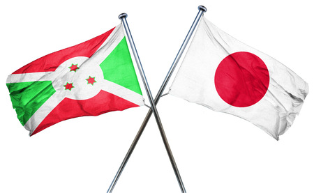 combined: Burundi flag combined with japan flag
