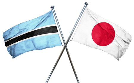 combined: Botswana flag combined with japan flag