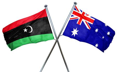 australian culture: Libya flag combined with australian flag