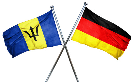 barbados: Barbados flag combined with germany flag Stock Photo