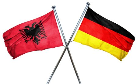 isolation backdrop: Albania flag combined with germany flag
