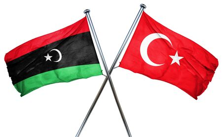 combined: Libya flag combined with turkey flag