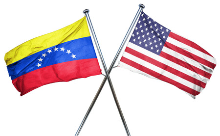 amity: Venezuela flag combined with american flag