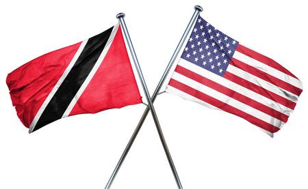 tobago: Trinidad and tobago flag combined with american flag