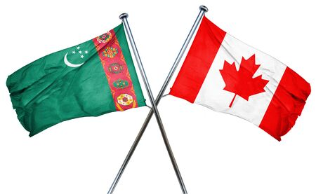turkmenistan: Turkmenistan flag combined with canada flag