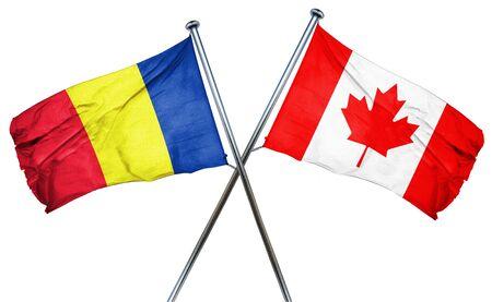 romania flag: Romania flag combined with canada flag