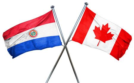 bandera de paraguay: bandera de Paraguay combinado con la bandera de Canadá