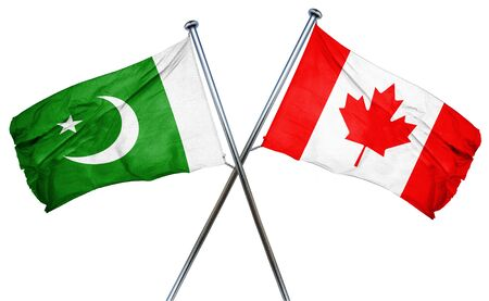 isolation backdrop: Pakistan flag combined with canada flag