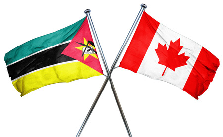 combined: Mozambique flag combined with canada flag