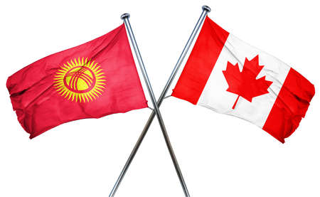 combined: Kyrgyzstan flag combined with canada flag