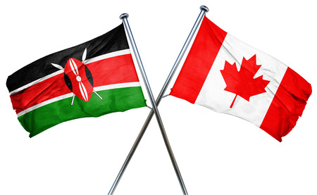 combined: Kenya flag combined with canada flag