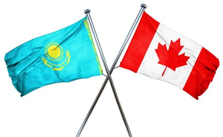 kazakhstan: Kazakhstan flag combined with canada flag