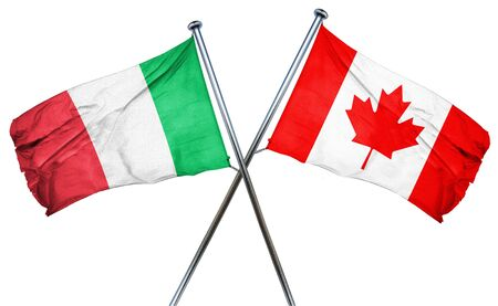 isolation backdrop: Italy flag combined with canada flag