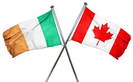 ireland flag: Ireland flag combined with canada flag