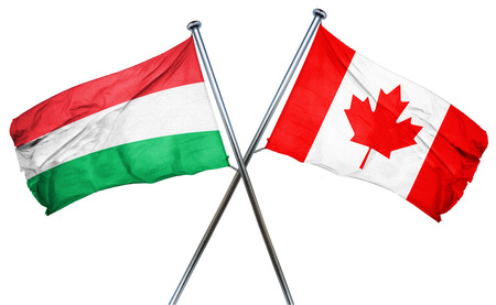 isolation backdrop: Hungary flag combined with canada flag