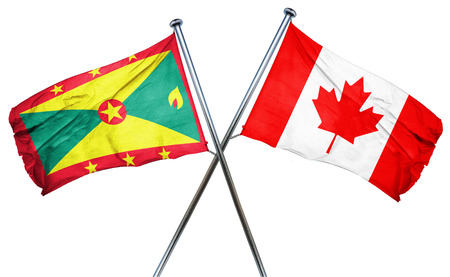 grenada: Grenada flag combined with canada flag