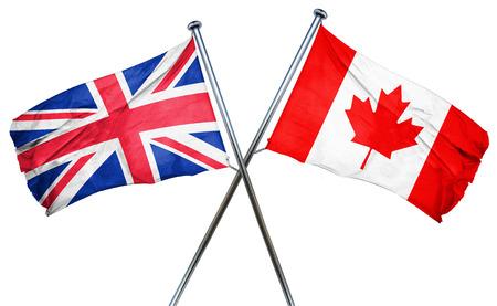 bandera de gran bretaña: Gran bandera de Gran Bretaña combinado con la bandera de Canadá