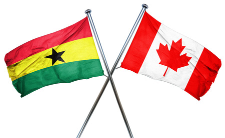ghanese: Ghana flag combined with canada flag Stock Photo