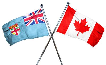 fiji: Fiji flag combined with canada flag