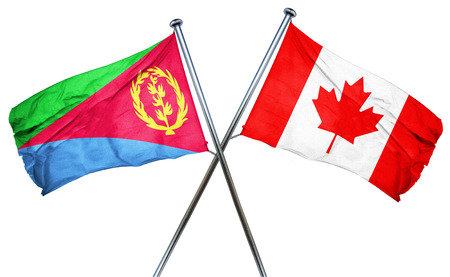 combined: Eritrea flag combined with canada flag