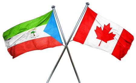 equatorial guinea: Equatorial guinea flag combined with canada flag