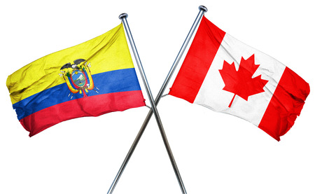 combined: Ecuador flag combined with canada flag