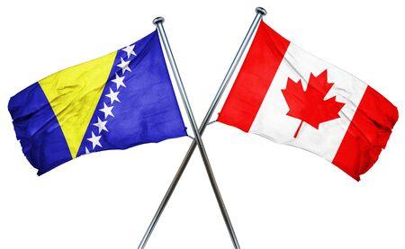 bosnia and herzegovina flag: Bosnia and Herzegovina flag combined with canada flag