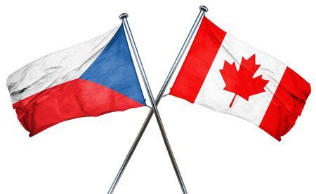 czechoslovakia: czechoslovakia flag combined with canada flag Stock Photo
