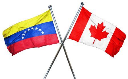 bandera de venezuela: Venezuela flag combined with canada flag Foto de archivo