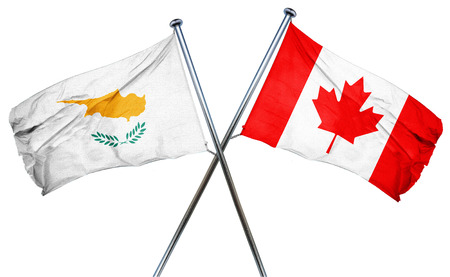 combined: Cyprus flag combined with canada flag