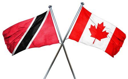 tobago: Trinidad and tobago flag combined with canada flag Stock Photo