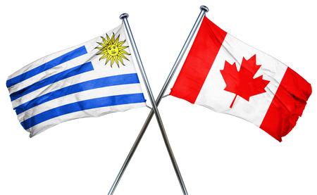 bandera de uruguay: bandera de Uruguay combinado con la bandera de Canadá
