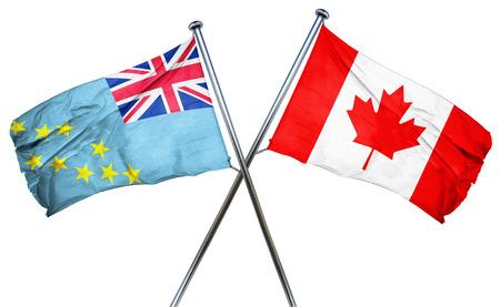 tuvalu: Tuvalu flag combined with canada flag