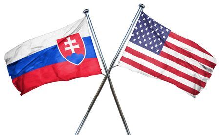 amity: Slovakia flag combined with american flag