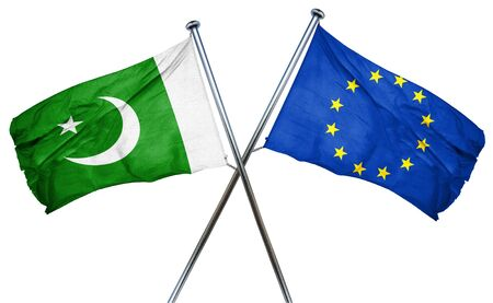 pakistan flag: Pakistan flag combined with european union flag