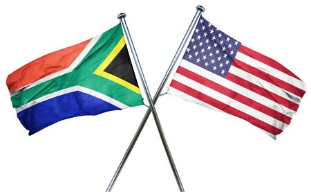 south africa flag: South africa flag combined with american flag