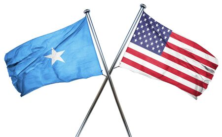 somalian culture: Somalia flag combined with american flag