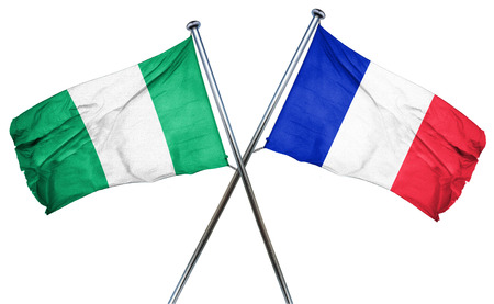 amity: Nigeria flag combined with france flag