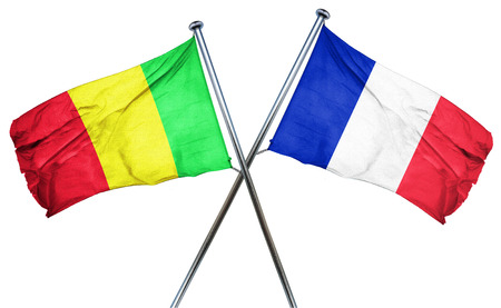 mali: Mali flag combined with france flag