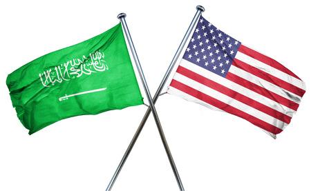 amity: Saudi Arabia flag combined with american flag